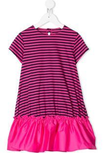 Il Gufo Vestido Com Estampa De Listras - Rosa