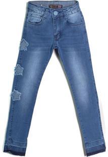 Calça Jeans Infantil Oznes Menina Azul - 4