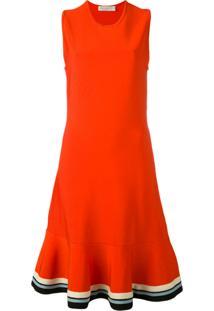 Victoria Victoria Beckham Vestido Com Contraste - Vermelho