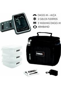 Kit Com Bolsa Térmica Fitness Dagg 1,5L E Braçadeira Armband - Unissex