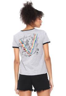 Camiseta Volcom Go Faster Cinza