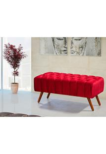 Puff Triton 100 Cm De Largura Vermelho - Lc Móveis