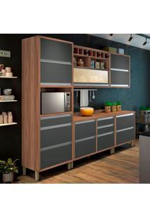Cozinha Baronesa Completa - 5 Peças - 500246 - Grafite - Nesher