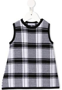 Dolce & Gabbana Kids Vestido Xadrez - Preto