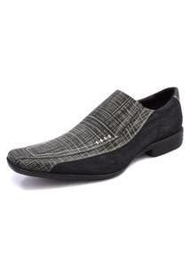Sapato Social Pisa Forte Couro E Jeans