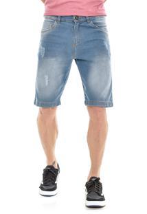 Bermuda Jeans America Do Sul Slim Fit Com PuãDos - Jeans - Masculino - Algodã£O - Dafiti