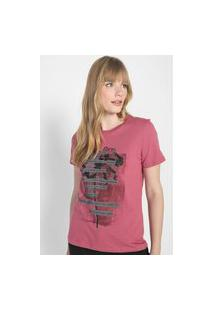 Camiseta Calvin Klein Jeans Beauty And Flower Rosa