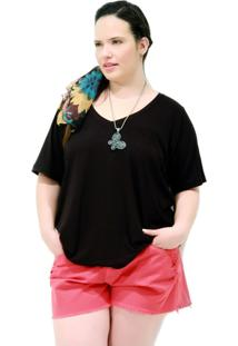 Camiseta Black Básica Plus Size Preto