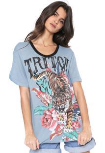 Camiseta Triton Tigre Azul