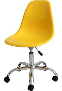 Cadeira Eames Com Rodizio Polipropileno Amarelo - 19300 - Sun House