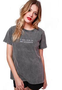 T-Shirt Sislla Ascendente Chumbo