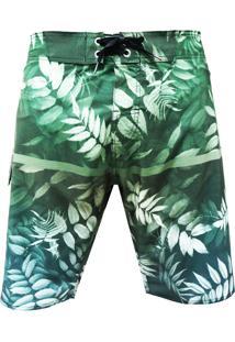 Bermuda Alkary Floresta Verde - Verde - Masculino - Elastano - Dafiti