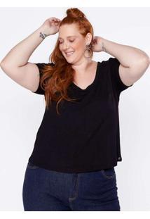 T-Shirt Almaria Plus Size Clamarroca Preto