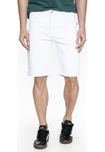 Bermuda Jeans Lemier Collection Slim Branca - Branco - Masculino - Dafiti