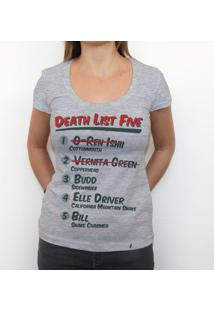 Death List Five - Camiseta Clássica Feminina