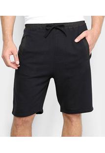 Bermuda Moletom Calvin Klein Ck Black Loungewear Masculina - Masculino