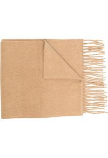 Polo Ralph Lauren Cachecol De Lã Com Franjas - Marrom