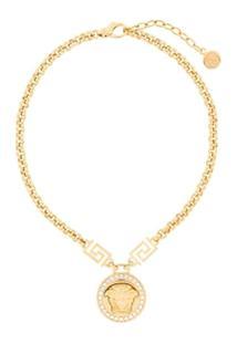 Versace Colar Dourado - Metálico