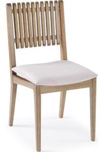 Cadeira Farm Com Encosto Ripado E Assento Estofado - 50906 Sun House