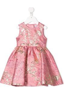 Dolce & Gabbana Kids Vestido Jacquard Com Padronagem - Rosa