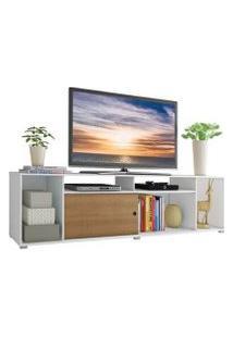 Rack Para Tv Até 65 Polegadas Madesa Cancun Branco/Rustic