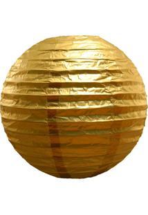 Enfeite Bola De Papel Dourado 16 Polegadas Festaria