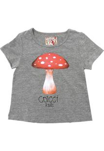 Camiseta Colcci Kids Menina Frontal Cinza