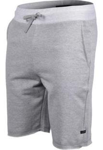 Bermuda De Moletom Plus Size Rip Curl Basic - Masculino-Cinza