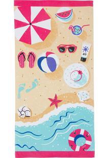 Toalha De Praia Málaga Holiday I 75X150 - Teka - Colorido