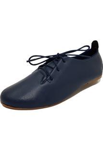 105bf9c6cc Oxford Azul Bico Redondo feminino