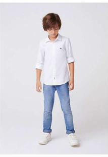 Camisa Manga Longa Menino Em Tecido De Algodão Bra