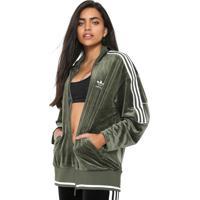 20f3ce5a961 Jaqueta Adidas Originals Veludo Track Top Verde