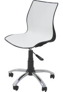Cadeira Maja Com Rodizio Cor Preto C/ Branco - 19606 - Sun House