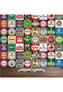 Adesivo Azulejos Rótulos De Cervejas (15X15Cm)