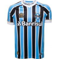 Camiseta Masculina Umbro Grêmio Oficial 1 2018 Fan Numero 7 3178d5ed4a7ac