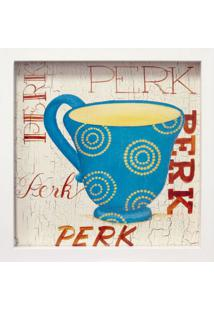 Quadro Caixa Perk Branco 33X33 Cm Kapos