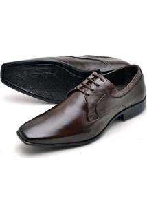 Sapato Social Couro Confort Reta Oposta Masculino - Masculino
