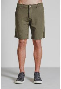 Bermuda Moleton Corte A Fio Masculina - Masculino-Verde Militar