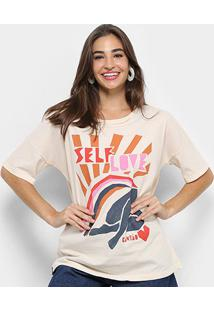 Camiseta Cantão Estampa Self Love Feminina - Feminino
