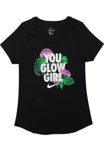 Camiseta Nike Menina Escrita Preta