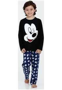 Pijama Infantil Estampa Mickey Disney