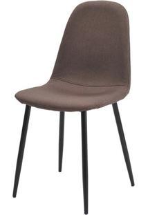 Cadeira Jacob Cor Marrom Pes Palito Metal Preto - 38242 - Sun House