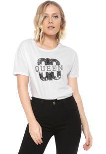 Camiseta Carmim Queen Branca