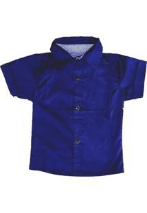 Camisa Social Megan Azul Marinho