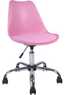Cadeira De Escritório Giratória Eames Rosa