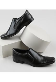 Sapato Social Masculino Oneself Bico Quadrado Com Recortes Preto