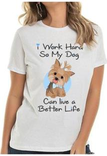 Camiseta Yorkie Boy Buddies Feminina - Feminino