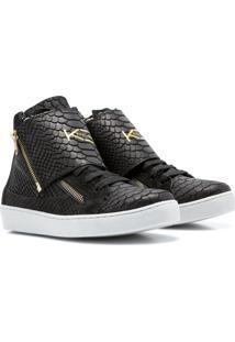 Sneaker K3 Fitness Breezy Preto - Preto - Feminino - Couro LegãTimo - Dafiti