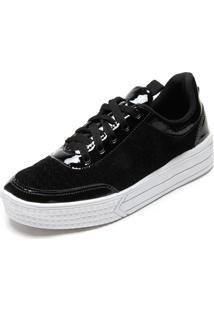 Tênis Flatform Dafiti Shoes Textura Preto