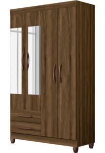 Guarda-Roupa Solteiro Com Espelho Ambar 4 Pt 2 Gv Cedro